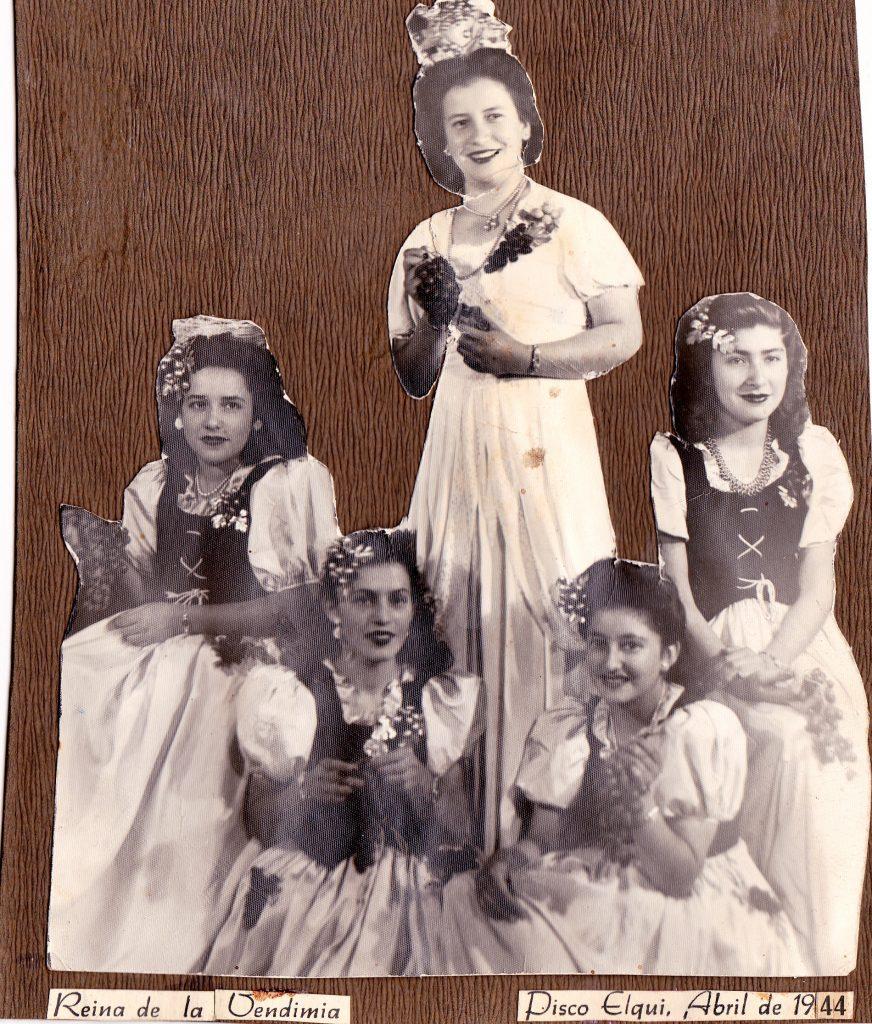 primeras reinas de la vendimia 1944